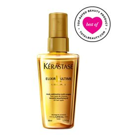 "Best Heat Styling Product No. 13: Kerastase Elixir Ultime, $34  lightweight product ""gives great shine and really moisturizes hair,"" and does it all ""without looking or feeling greasy."" ""I have curly hair and I can straighten my hair on a rainy humid day, and it doesn't frizz one bit."