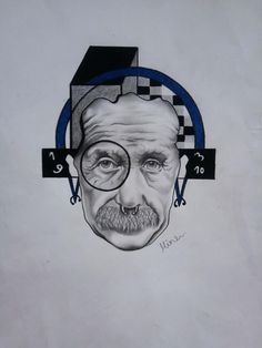 Albert Einstein tattoo design