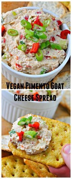 Vegan Pimento Goat Cheese Spread
