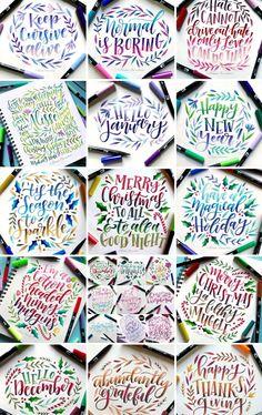 Cute Qoutes, Hand Lettering Alphabet, Letter Art, Brush Pen, Cursive, Holiday Ideas, Pens, Journaling, Bullet Journal
