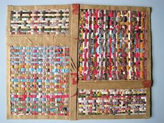 Weaving with old magazines and paper bags