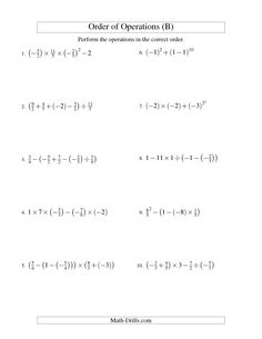 math worksheet : order of operations with fractions  four steps including  : Order Of Operations With Fractions Worksheets