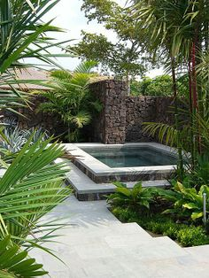 Wonder if we could have a small pool like this in our backyard? Small Swimming Pools, Small Pools, Swimming Pools Backyard, Swimming Pool Designs, Backyard Landscaping, Hot Tub Backyard, Hot Tub Garden, Small Backyard Pools, Backyard Patio