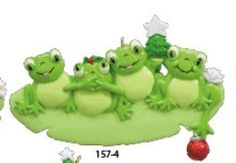 Family+of+4+Frogs++Hand+Personalized+by+TreasuredOrnaments+on+Etsy,+$12.95