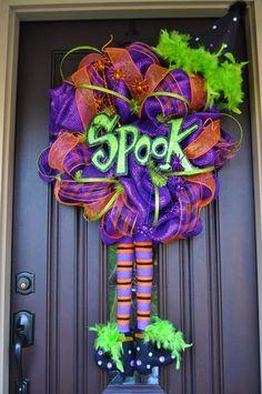 Etsy Transaction - Halloween Wreath, Deco Mesh Wreath, Mesh Wreath, Wreath, Witch Wreath, Halloween Decor, Halloween Decoration