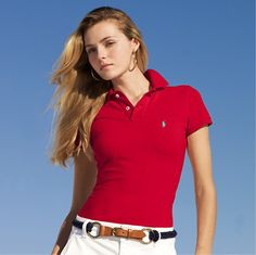 cheap ralph lauren polo Women\u0027s Classic-Fit Short Sleeve Polo Shirt Red  http:/