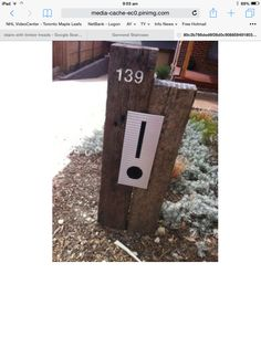 Recycled timber sleepers letterbox