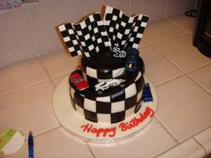 Decades Race Car Cake by Cake Imagination Race Car Cakes, Birthday Cakes, F1, Cake Ideas, Imagination, Cake Decorating, Wedding Cakes, Desserts, Wedding Gown Cakes