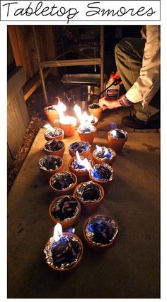 Terra Cotta S'mores Setups!  Totally trying this!