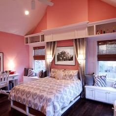Bedroom Photos Coral Gray Teal Design Ideas, Pictures, Remodel, and Decor - page 9