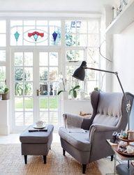 Ikea Strandmon Chair & Ottoman