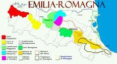 Italian wine regions : Emilia-Romagna