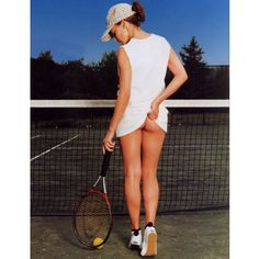 Kylie Minogue Perhaps the only true homage (as opposed to parody) to the Tennis Girl, this photo of Kylie Minogue comes closest to capturing the eroticism of the original. It also showcases her most famous asset, but unlike 100% of the readers of GQ magazine, I am more excited by the fact La Minogue is wearing BOBBLE SOCKS!