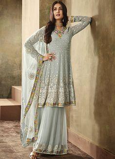 Looking to buy salwar kameez? ✓ Shop the latest dresses from India at Lashkaraa & get a wide range of salwar kameez from party wear to casual salwar suits! Sharara Suit, Pakistani Salwar Kameez, Pakistani Dresses, Anarkali Suits, Pakistani Frocks, Anarkali Dress, Shalwar Kameez, Indian Dresses For Women, Sharara Designs