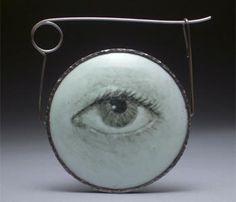 Jessica Calderwood, Blink (enamel, copper and sterling silver)