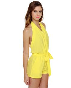 Just Playin' Yellow Romper- need for Game day GO BULLS !!!!