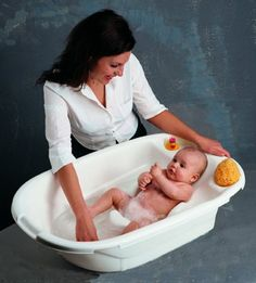 The PRIMO EuroBath.  Best baby tub because baby is actually under water.