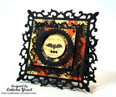 bat w/ Spellbinders dies- I want that square die- sweet baby!