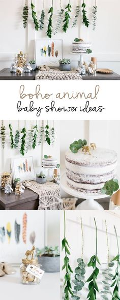 Boho Animal Baby Shower Ideas | Styled by The TomKat Studio