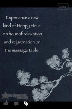 "What a great new version of ""Happy Hour"" that will not leave you with a hangover or unhappy liver.. an hour of #massage IS a #happy #hour! http://www.spabreak.co.uk/"