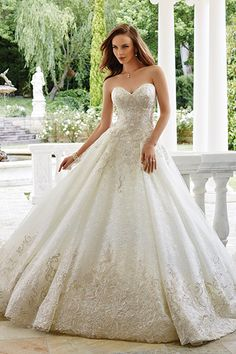 Wedding gown by Sophia Tolli.Check out more gorgeous dresses in our Sophia Tolli for Mon Cheri gown gallery ►