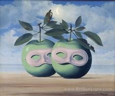 Rene Magritte - Apple Couple