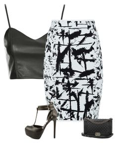 """""""Party"""" by karlita-grace ❤ liked on Polyvore featuring Topshop, BCBGMAXAZRIA, Qupid and Chanel"""