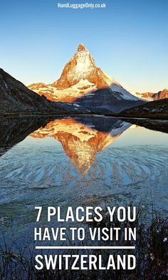 Beautiful Places In Switzerland You Have To Visit 7 Places You Have To Visit In Switzerland! - Hand Luggage Only - Travel, Places You Have To Visit In Switzerland! - Hand Luggage Only - Travel, Food… Europe Travel Tips, European Travel, Travel Advice, Travel Destinations, Swiss Travel, Vacation Travel, Travel Hacks, Vacations, Places In Switzerland