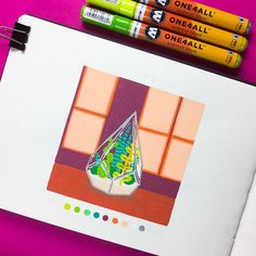 Inktober 2018 on Behance Posca Marker, Marker Art, Sketchbook Inspiration, Art Sketchbook, Art Sketches, Art Drawings, Posca Art, Guache, Pen Art