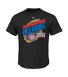 e303bad59a7 Chicago Cubs 2016 World Series Champs Parade Champions T-Shirt Screen Print  Graphics Short Sleeve Crew Neck Officially Licensed Merchandise Cotton