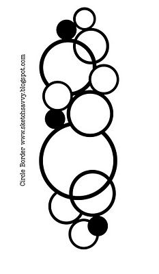 FREE cut file sketch savvy: Circle border #silhouette