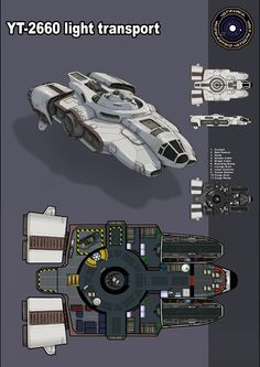 YT-2660 light transport by TheShepster Possible Crew Ship