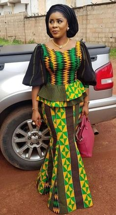 afrikanische frauen Check Out These Current Fashion Trends of 30 Latest Ankara Skirt and Blouse Styles for Ladies - photo African Fashion Ankara, Latest African Fashion Dresses, African Dresses For Women, African Print Dresses, African Print Fashion, African Attire, African Prints, Ankara Skirt And Blouse, Ankara Dress Styles
