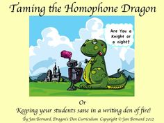 """This fun unit is filled with cute dragon pictures and activities to keep your students' interest as they work on learning homophones! Even adults think homophones can be a real bear (bare?). So step right up and use this unit not just for a week or a month, but whenever your students need a """"brush-up"""" throughout the year. Who knew (new?) learning about homophones could be so much fun?"""