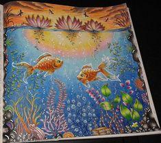 Group colouring in a romanian facebook group: #fishpond #secretgarden…