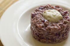 Risotto con cavolo viola e gorgonzola