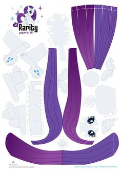 Rarity - My Little Pony - Papercraft