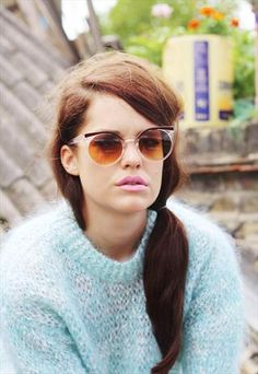 60s Inspired Clear Browed Sunglasses  £16