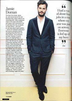 Jamie Dornan in Glamour UK (March) Source:… Shades Of Grey Movie, Fifty Shades Movie, Fifty Shades Darker, Jamie Dornan, Glamour Magazine Uk, Glamour Uk, Mr Grey, Gray, Cristian Grey
