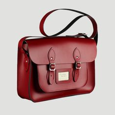 Pillar Box Red 14 Inch Satchel Central satchelcentral.co.uk