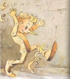 Ilustraciones Fabulous: Fairy Tales - Las aventuras de Pinocho / Pinocchio by Leonid Vladimirsky