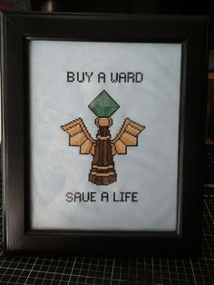Cross Stitched League of Legends Inspired Wards by Kiarigal, $100.00
