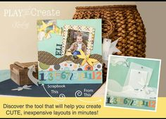 I'd love to show you how to make great scrapbook layouts! Combo Image, Scrapbook Pages, Scrapbooking, Scrapbook Layouts, Kiwi Lane Designs, Play, Create, Projects, Cards