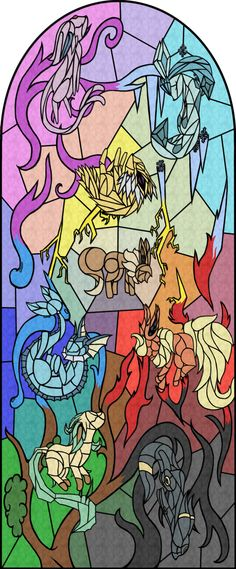 eeveelutions | Eeveelutions - Stained Glass by ~EvolifanNo1 on deviantART