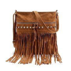Womens Tassel Rivet Handbag Shoulder Bags CrossBody Messenger Bags Satchel Tote  $20.00 free shipping You save 19% off the regular price of $25.00