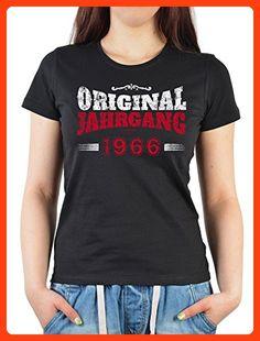 Geburtstags/Jahrgangs-Shirt/ Fun-Shirt Damen: Original Jahrgang 1966 schöne Geschenkidee (*Partner Link)