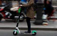 France will ban electric scooters from pavements in September, the transport minister said, in a backlash against a surge of the commuter gizmos invading pedestrian areas. Electric Scooter, Electric Motor, Electric Cars, E Scooter, Circulation, Motor Scooters, Cargo Bike, Pavement, First Time