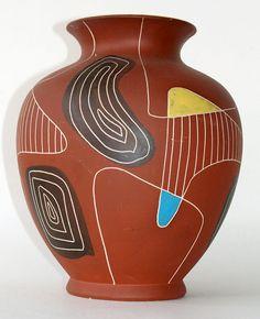 50's West Germany Bay vase by AardewerkenZo on Etsy, €65.00