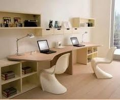 kids study room.  contemporary and clean