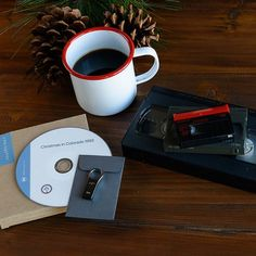 Home movies and hot cocoa, er coffee. Close enough. #holidays #gifts